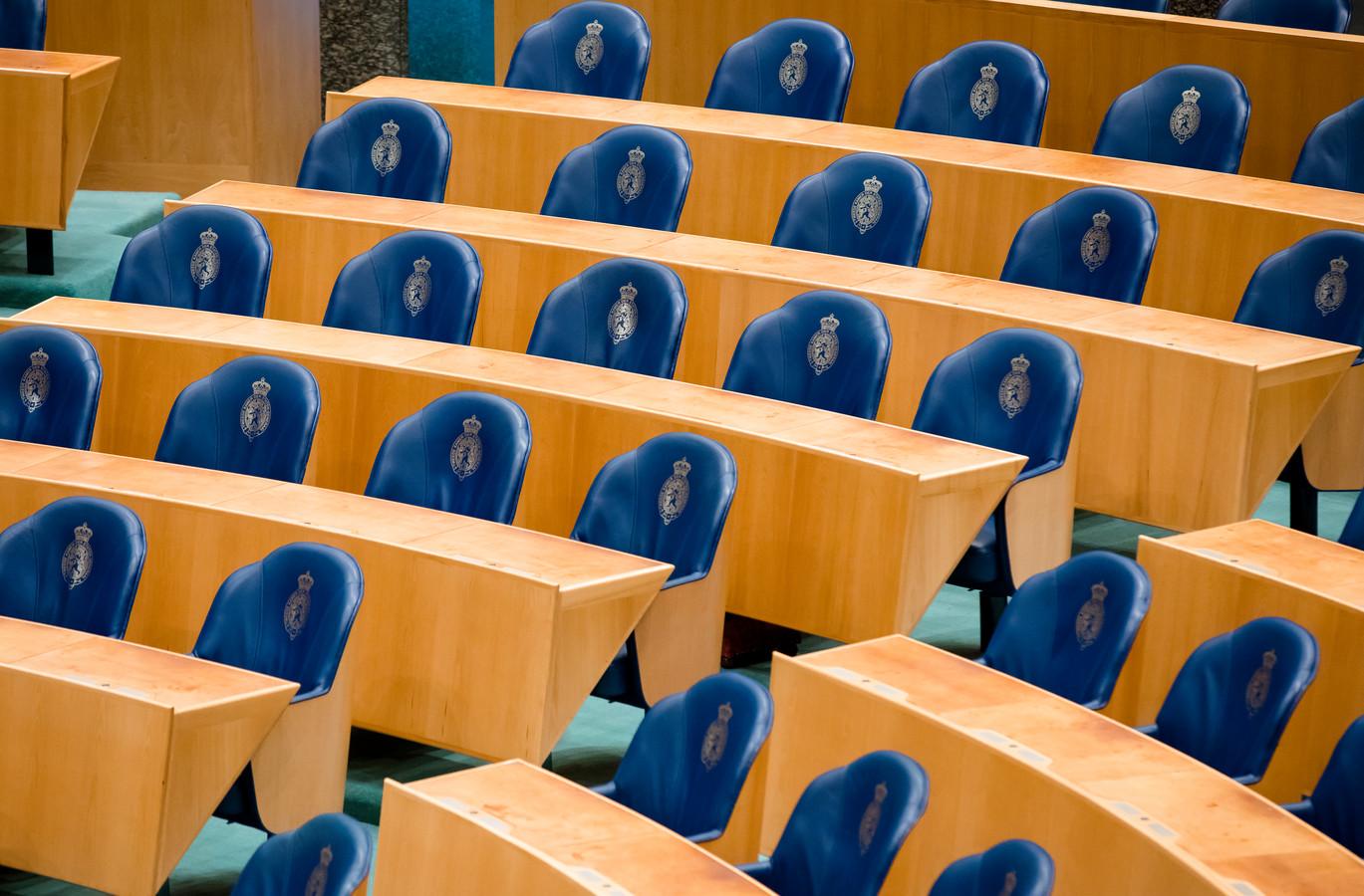 De Tweede Kamer in Den Haag.