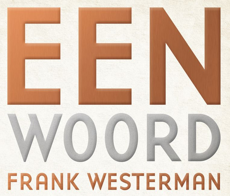 Omslag van Frank Westermans Een woord een woord. Beeld