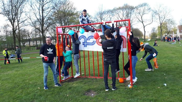 Een activiteit van jeugdwerk Boost. Met links Bas Huibregtse.