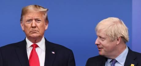 Trump en Johnson praten over beveiligen communicatienetwerk