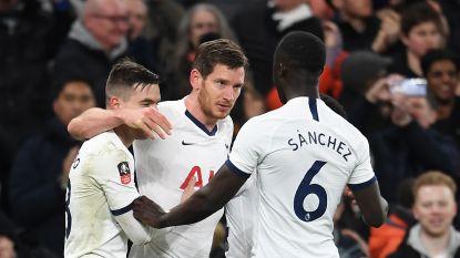 SuperJan returns, maar Spurs sneuvelen na penalty's: Vertonghen mag nog eens starten en scoort