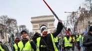 """Helft minder """"gele hesjes"""" in Frankrijk dan vorige week"""