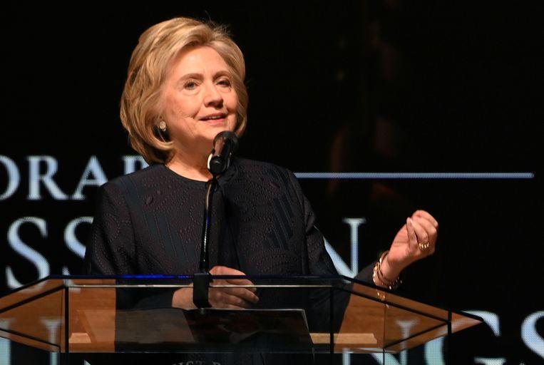 Hillary Clinton tijdens de begrafenis van Democratisch parlementslid Elijah Cummings eind oktober.