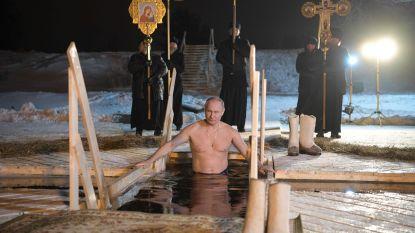 Niks koudwatervrees, bij Vladimir Poetin