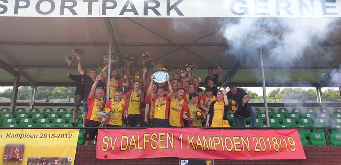 SV Dalfsen viert de derde promotie op rij.