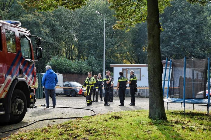 Drugslab aangetroffen op woonwagenkamp aan Rugdijk, Tilburg