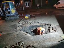 Wéér een leidingbreuk: deel Hoogland opnieuw zonder water