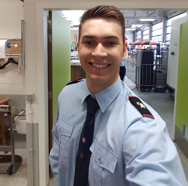 Benjamin Bruyns werkt ook als vrijwilliger bij de brandweer in Kasterlee