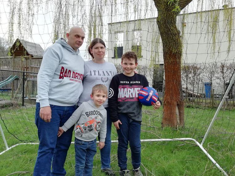 Het gezin Bries met de kleine Niel en Jarne.