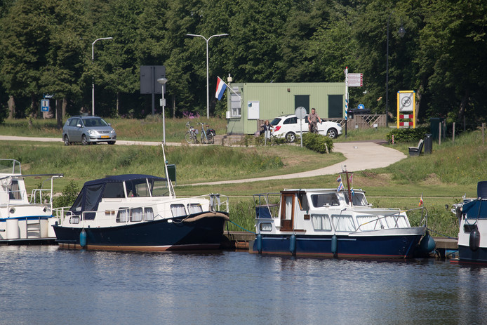 De jachthaven in Ommen.