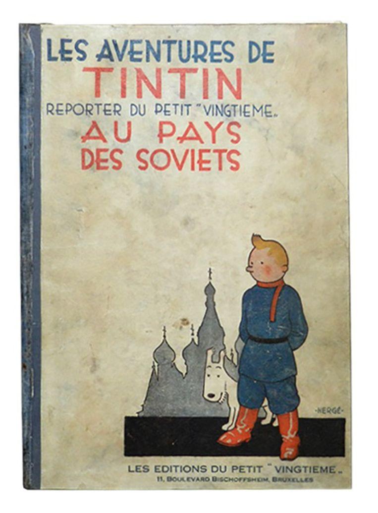 het duurste stripboek, te weten een eerste druk van Kuifje Au pays des Soviets uit 1930 Beeld .