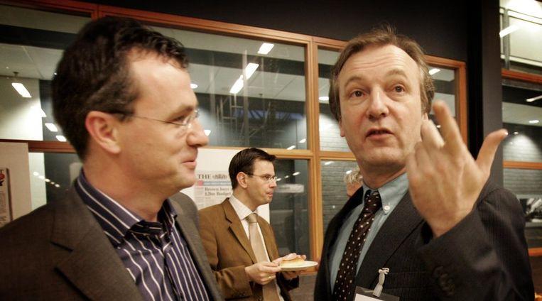 Erik van Gruijthuisen (l) en Frits van Exter in 2005. Beeld anp