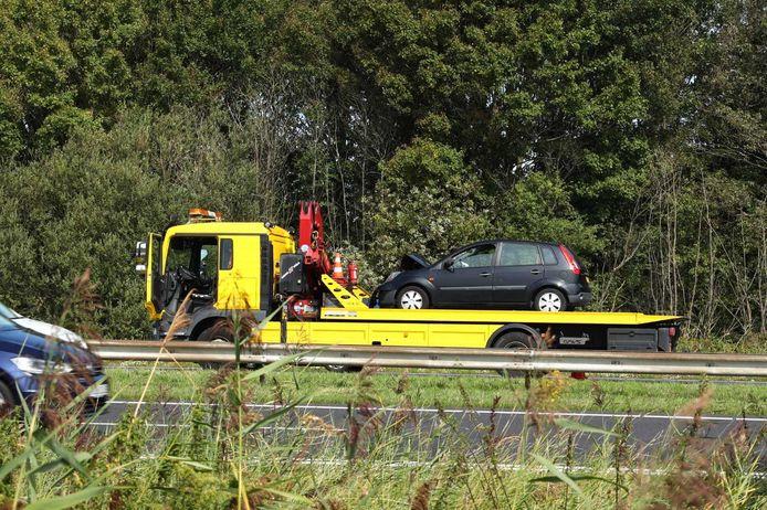 Ongeluk op A58 bij Rilland.