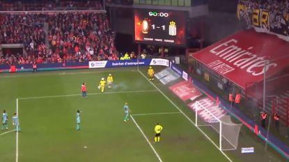 Waarom ook Standard - Charleroi een vijftal minuten stil lag