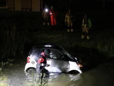 Auto raakt te water, bestuurder spoorloos