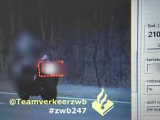 Motorrijder crosst met 210 door Hilvarenbeek, 90 bestuurders beboet bij snelheidscontrole