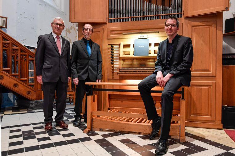 Het nieuwe orgel in de Sint-Gerardus-Majellakerk.