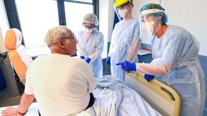 OVERZICHT. Dalende trend zet zich voort: 270 nieuwe ziekenhuisopnames per dag en 157 overlijdens
