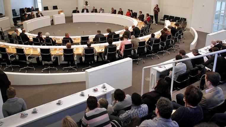 Vergadering van de gemeenteraad in het Haagse stadhuis. © ANP Beeld