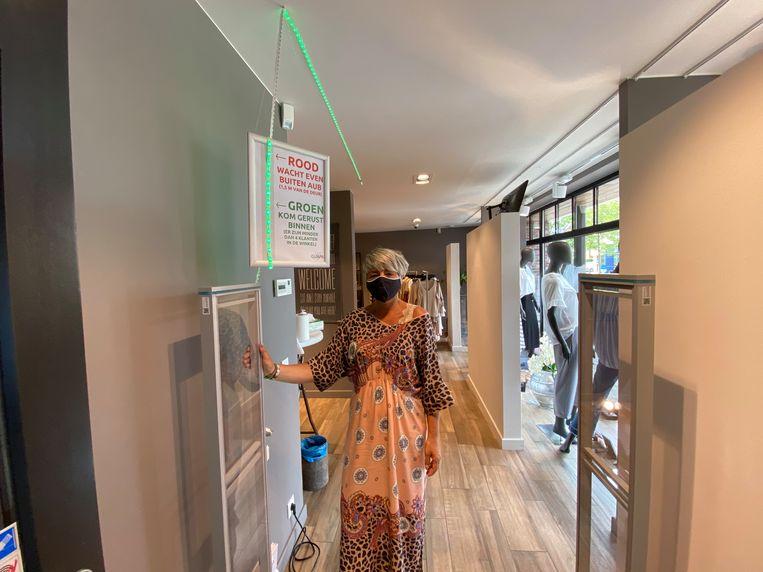 Groen licht betekent dat de shopper de winkel mag betreden