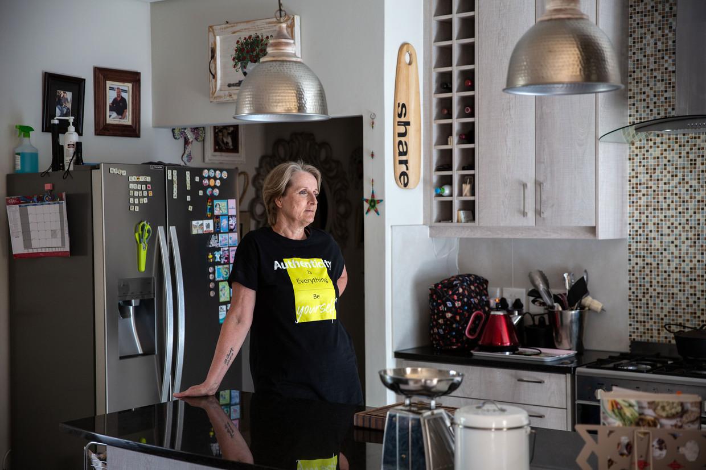 Tilana Stander woont met haar gezin in Kaapstad, ver van haar familie en geboortegrond.  Beeld James Oatway