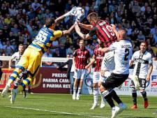 AC Milan geeft in slotfase voorsprong uit handen bij Parma
