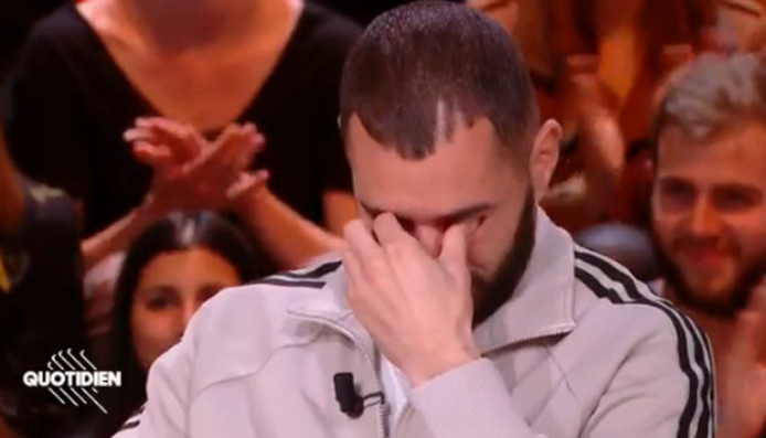 """Karim Benzema en larmes dans """"Quotidien"""""""