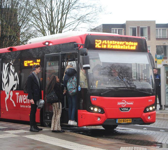 Een bus van vervoerder Keolis