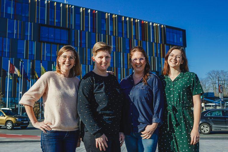 Katrien Wauters, Jelle Moens, Kim Woolley en Dorien Dooms.