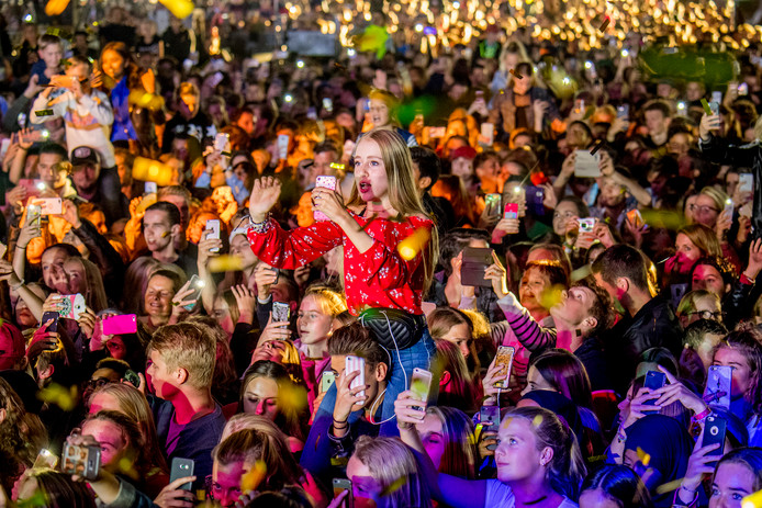Tiel 07-09-2018Appelpop 2018 Fans Lil'Kleine in actie iov GelderlanderFoto Raphael Drent