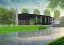 Ontwerp van de nog te bouwen Turkse moskee in Breda-Noord.