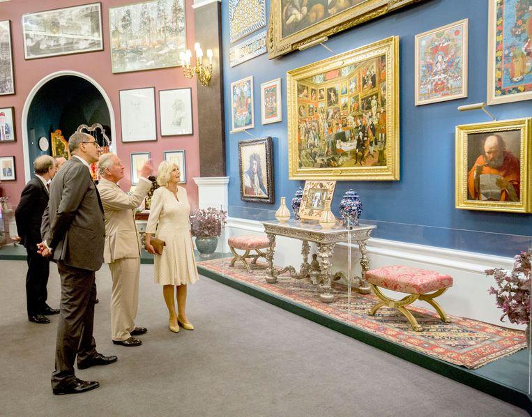 Prince Charles en hertogin Camilla bij Prince & Patron. Beeld Royal Collection Trust / Her Majesty Queen Elizabeth II 2018