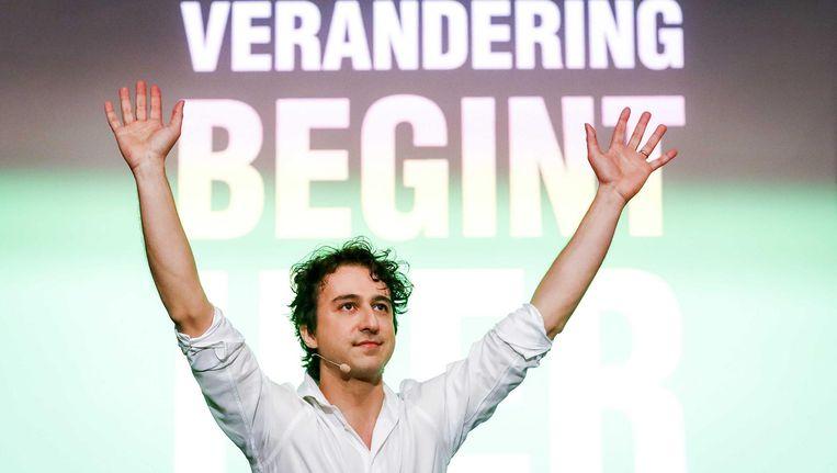 Jesse Klaver, partijleider van GroenLinks, de grote winnaar in de grote steden Beeld ANP/Bas Czerwinski