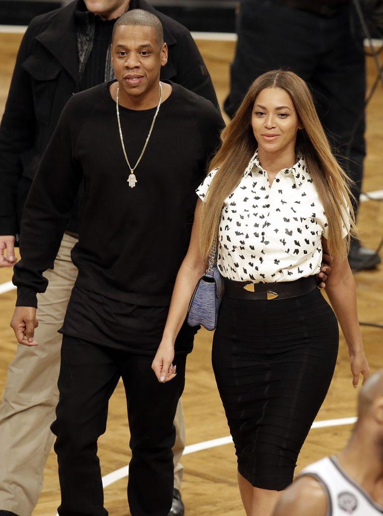 Jay-Z en Beyoncé woonden vorige week het NBA-treffen Brooklyn Nets - Cleveland Cavaliers bij in New York.