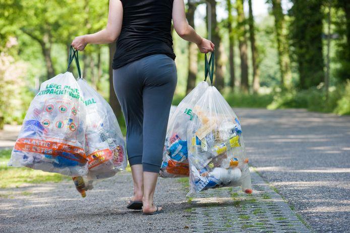 Liefst 97 procent van het plastic afval is afgekeurd in Enschede.