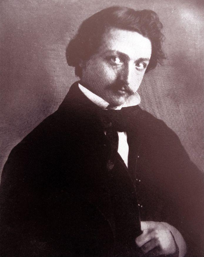 Portret van de schrijver Multatuli (Eduard Douwes Dekker).