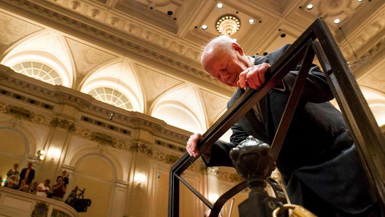 Dirigent Bernard Haitink tijdens de viering van zijn 60-jarig jubileum in het Concertgebouw. Beeld anp