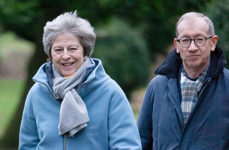 Theresa May en haar echtgenoot Philip May.