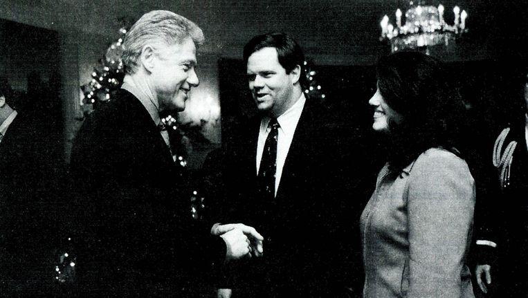 President Bill Clinton in 1996 met Monica Lewinsky. Beeld null
