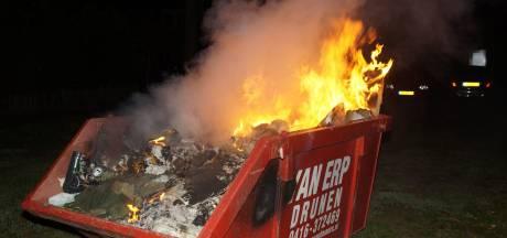 Brand in bouwcontainer in Drunen snel geblust