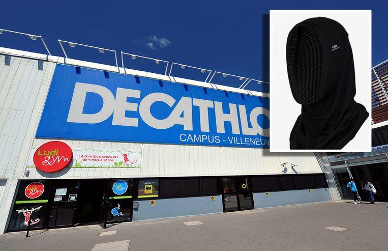 De hijab in het assortiment van Decathlon.