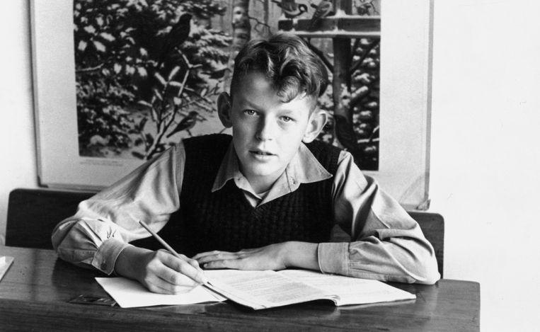 Rond 1951: op de openbare lagere school in Bergambacht. Beeld null