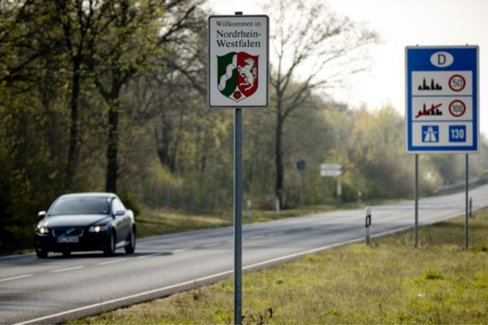 De grens met Duitsland