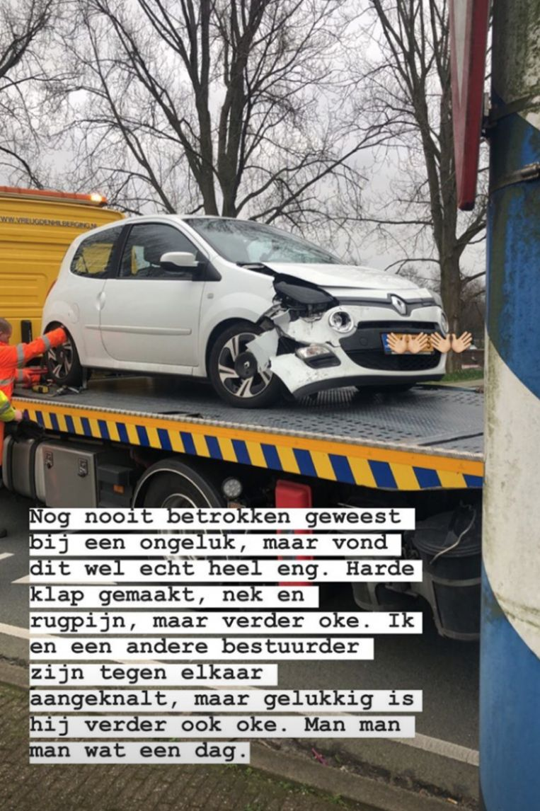 Demi was betrokken bij een ongeval.