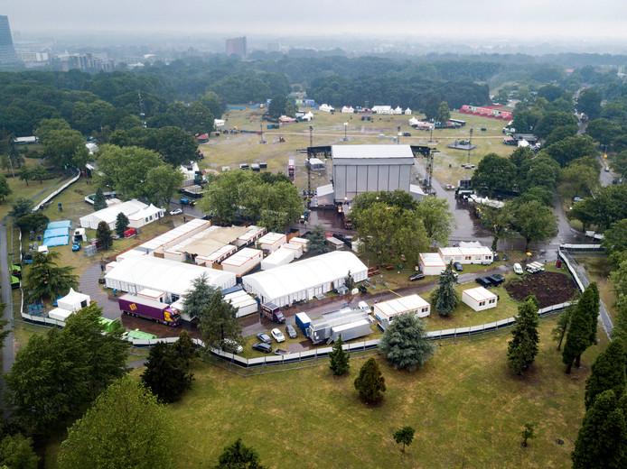 Het concertterrein in het Goffertpark.