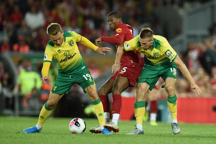 Georginio Wijnaldum deed de hele wedstrijd mee bij Liverpool.
