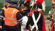 Napoleon krijgt het aan de stok met Belgische politie