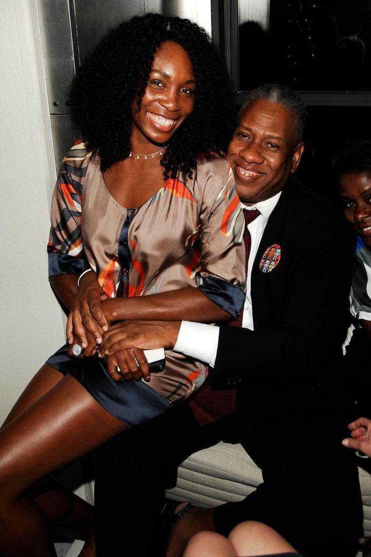 Met Venus Williams. Beeld null