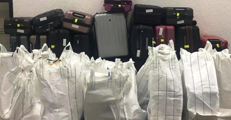 De pakketten drugs werden ontdekt bij een screening met een scanner.