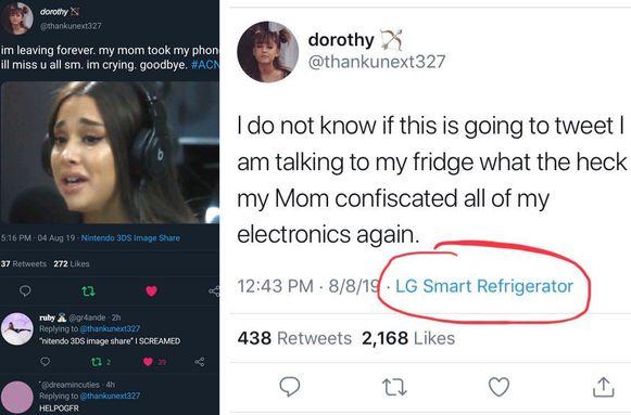 Britse tiener is haar moeder te slim af en omzeilt haar Twitterverbod via een slimme koelkast.
